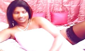 huge titted Indian girl with humungous dark areolas