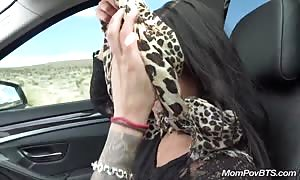 Public flashing and savage mouth fuck on nature walk