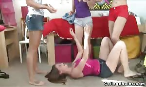 sexy teenie and flexible school
