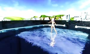 MMD raw undressed Water Dance