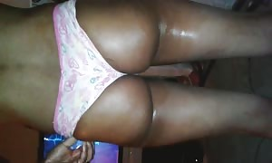 Ms. bootie Red in hot thongs