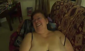 old lady Mexicana obese female has oral sex