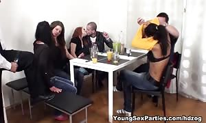 Sex event with mature spectator