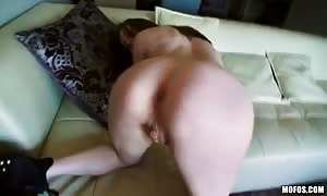 hairless beaver of a mouthwatering black-haired is penetrated for her main amateur porno