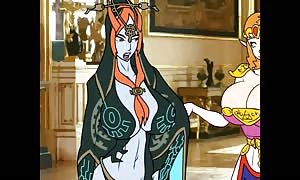 one way one way link 3some with Zelda & Midna & extra