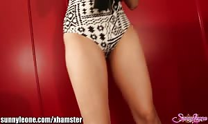 SunnyLeone FAN's private striptease from my cam