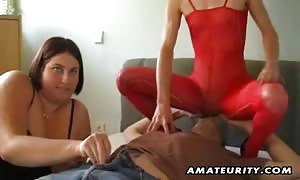Two hot novice hookers share one dick ! A incredible home manufactured hard-core FFM 3some action with rough mouth-fuck, fist fucking, bang and jizz facial spunk shot.