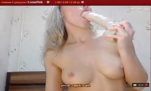 turned on big-breasted blond