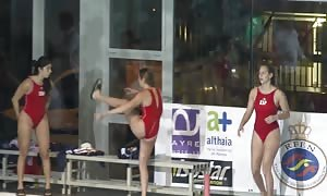 spanish waterpool ass showing off two