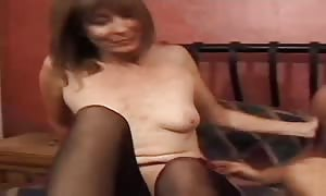 old stud with a huge penis is pounding a slender mommy I would desire to bang
